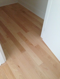 maple wood floor installed